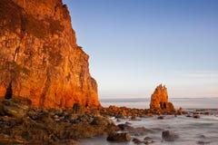 Asturias soluppgång Arkivfoton