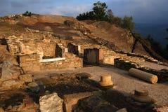 Asturias. Spain. Roman  Domus  (  1 st CE ) Archaeological site  Chao Samartin  Asturias SPAIN Royalty Free Stock Photos