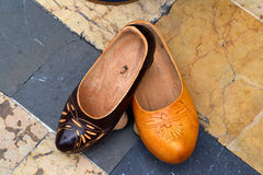 Asturias typical footwear Royalty Free Stock Images