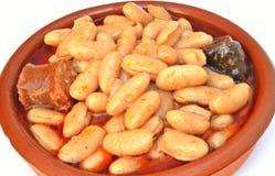 Asturische schotel Stock Fotografie