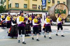 Asturisches Dudelsackensemble Stockfotografie