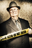 Astute fifties crime scene investigator Royalty Free Stock Photography