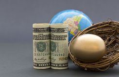 Astute global strategy builds a nest egg Stock Photography