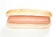 Asty hot dog isolated over white Royalty Free Stock Photo
