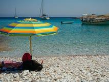 Astypalaia, Griekenland-Augustus 2016 De kleine boten als dit, kunnen nemen yo royalty-vrije stock foto's