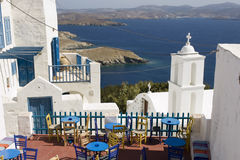 Astypalea island bar - Greece. Wonderful view from Chora - Dodecanese Islands Royalty Free Stock Photography
