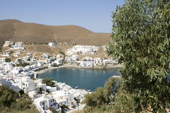 Astypalea - Pera Gialos Village  Greece. View from Chora - Dodecanese Islands - Greece Royalty Free Stock Photo