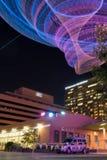 ASU net sculpture at night in Phoenix, AZ Stock Images