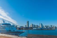 Asuka II am Osanbashi-Pier, Yokohama Lizenzfreie Stockfotografie