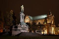 Asunción de la estatua y de la iglesia de Adán Mickiewicz Fotografía de archivo libre de regalías