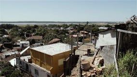 Asuncion City, de Hoofd en Grootste Stad van Paraguay stock videobeelden