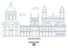Asuncion Linear City Skyline, Paraguay Stock Photos
