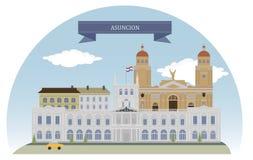 Asuncion, Paraguay illustration stock