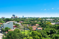 Asuncion Paraguay. View of a residential neighborhood at Asuncion, Paraguay Royalty Free Stock Images