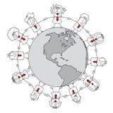 Asunto de la hoja de balance en todo el mundo Fotos de archivo libres de regalías