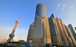Asunto de Shangai Lujiazui y centro financiero Fotografía de archivo