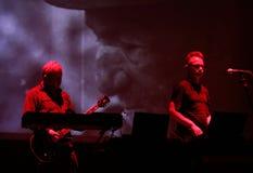 Asunto del cómplice vivo en la presentación multimedia internacional - festival ambiente Gorlice polonia Imagen de archivo libre de regalías