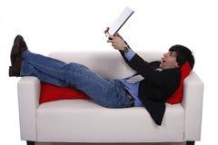 Asunto en el sofá Imagen de archivo