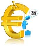 Asunto fracasado del dinero en circulación Foto de archivo