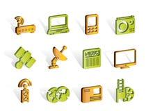Asunto, iconos de las comunicaciones de la tecnología stock de ilustración