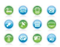 Asunto, iconos de las comunicaciones de la tecnología ilustración del vector