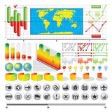 Asunto Infographics Fotos de archivo