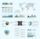 Asunto Infographics Fotografía de archivo libre de regalías