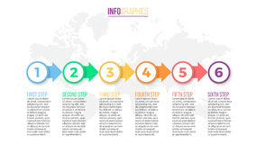 Asunto Infographics Diapositiva de la presentación, carta, diagrama con 6 pasos, círculos fotografía de archivo