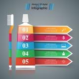 Asunto Infographics Icono de la crema dental Foto de archivo