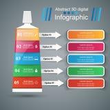 Asunto Infographics Icono de la crema dental Fotografía de archivo libre de regalías