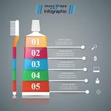 Asunto Infographics Icono de la crema dental Fotos de archivo libres de regalías