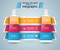 Asunto Infographics Icono de la crema dental Fotos de archivo