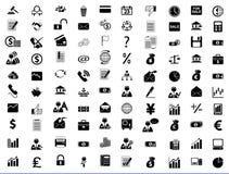 Asunto, oficina y finanzas de los iconos Imagen de archivo