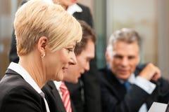 Asunto - reunión de las personas en una oficina Imagen de archivo