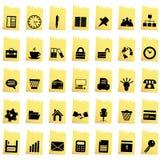 Asunto y conjunto del icono de la oficina Imagen de archivo