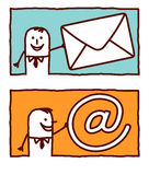 Asunto y correo Imagen de archivo