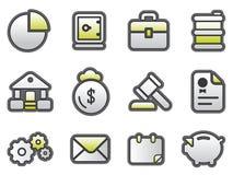 Asunto y FinanceButtons Imagen de archivo libre de regalías