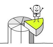 Asunto y gráfico de sectores stock de ilustración