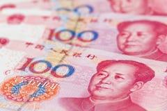 Asunto yuan de China. Dinero en circulación chino Fotografía de archivo libre de regalías