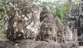 Asura of East gate bayom. The asura infront of the east gate of bayon Stock Photography
