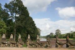 Asuras holding naga's body. At the entrance of Angkor Thom Royalty Free Stock Image