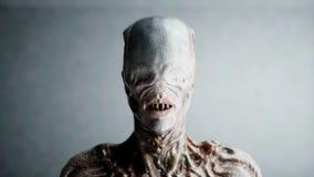 Asustadizo, monstruo del horror Concepto del miedo representación 3d libre illustration