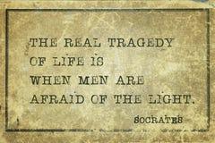 Asustado de Sócrates de la luz Imágenes de archivo libres de regalías