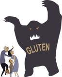 Asustado del gluten ilustración del vector