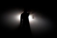 Asustado en la noche Fotografía de archivo libre de regalías