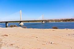 Aswan Bridge on Nile River Stock Images