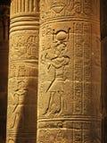Aswan, Egitto: Tempiale di ISIS all'isola di Philae fotografie stock libere da diritti