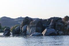 aswan egypt arkivfoton