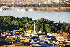 Aswan in Egypt stock images