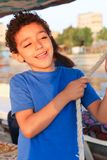 Child on Sailboat in the Nile river Royalty Free Stock Photos